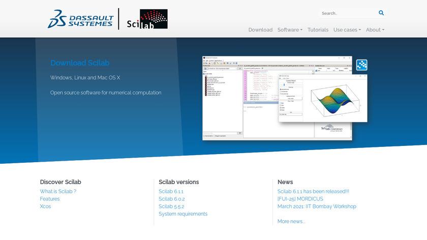 Scilab Landing Page