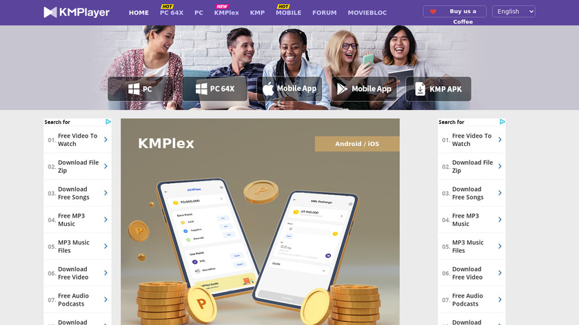 KMPlayer Landing Page