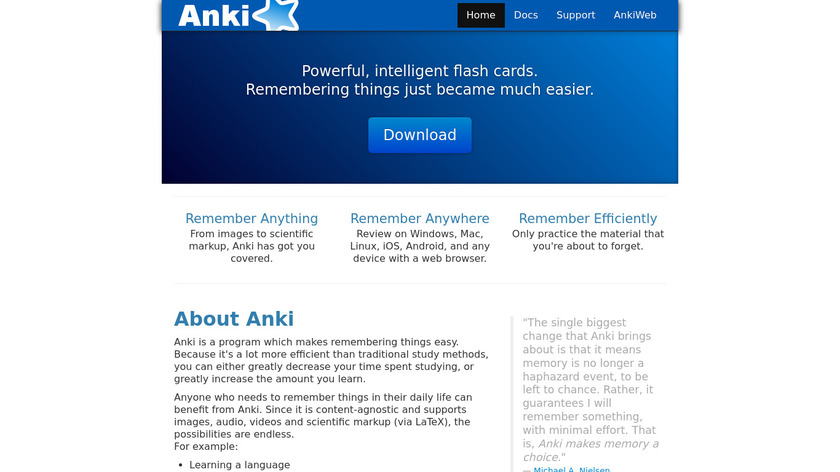 Anki Landing Page