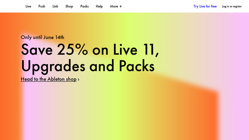 Ableton Live Landing Page