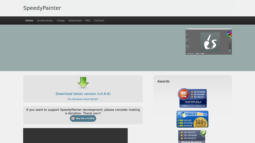 SpeedyPainter Landing Page