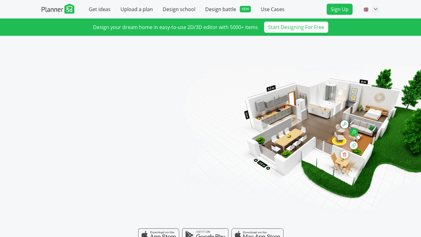 Planner 5D Landing Page