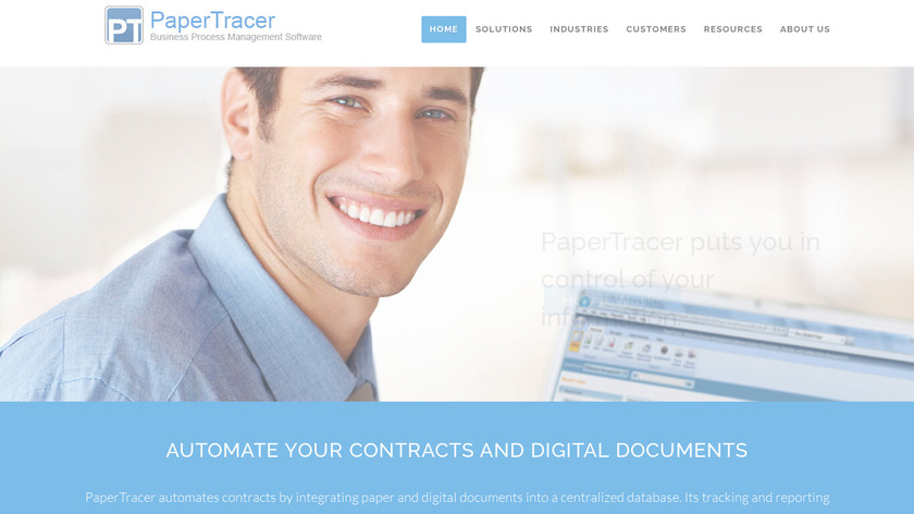 PaperTracer Landing Page