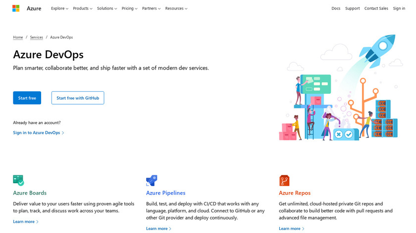 Visual Studio Team Services Landing Page