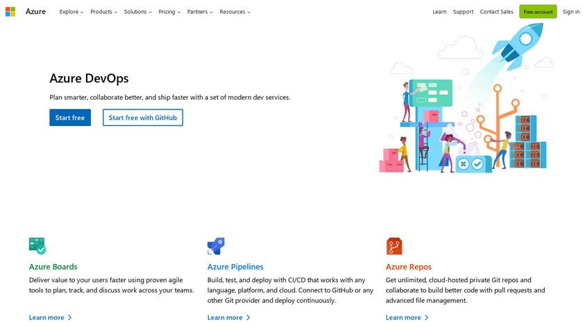 Visual Studio Team Services Landing Page
