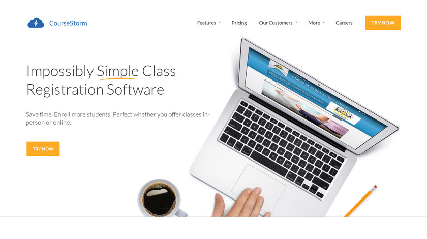 CourseStorm Landing Page