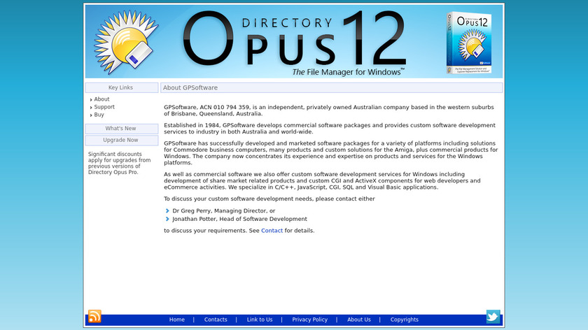 Directory Opus Landing Page