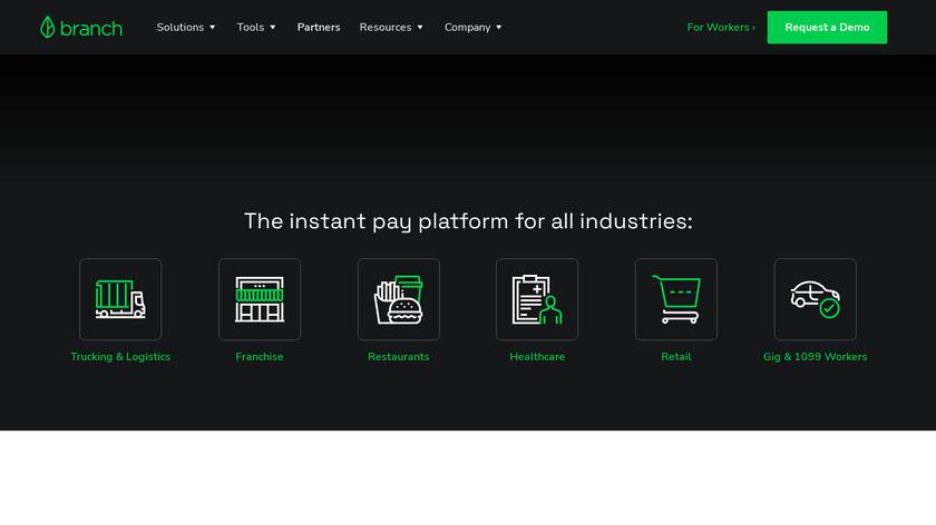 Branch Messenger Landing Page