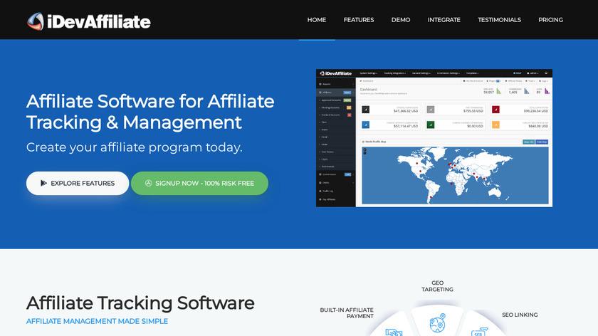 iDevAffiliate Landing Page