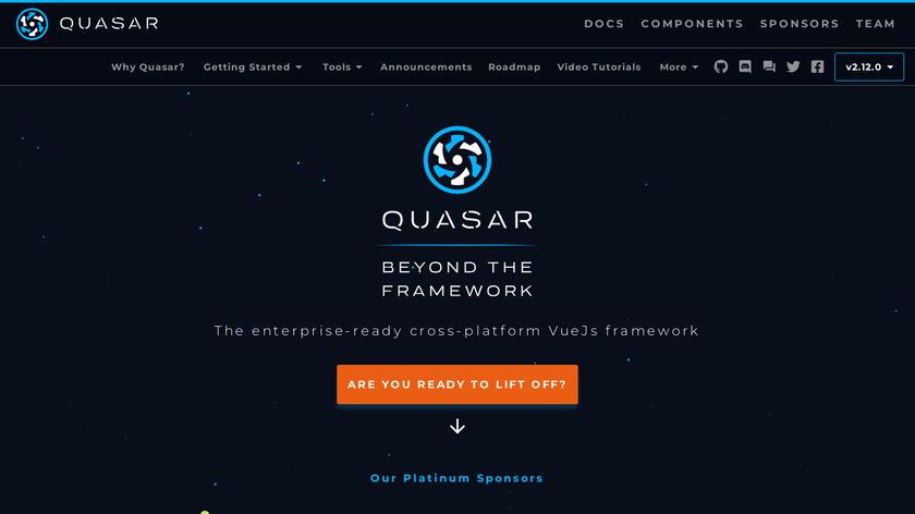 Quasar Framework Landing Page