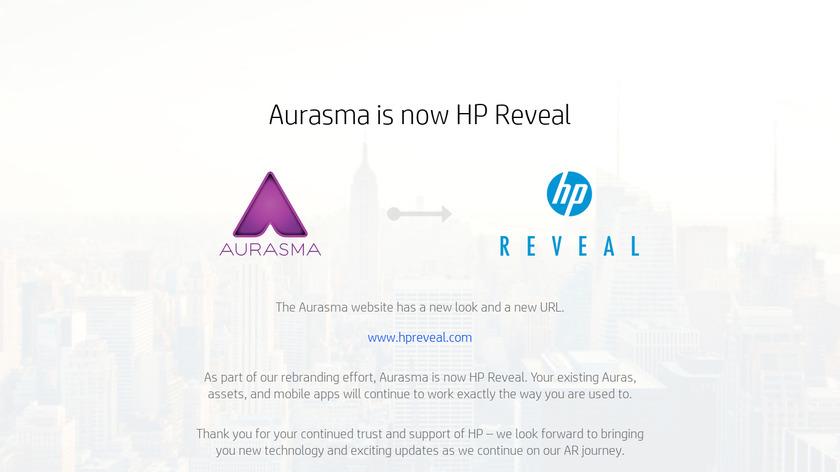 Aurasma Landing Page