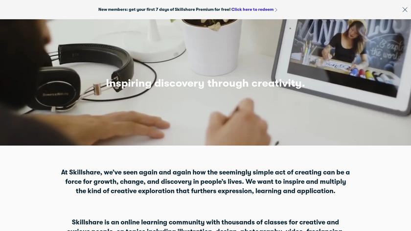 SkillShare Landing Page