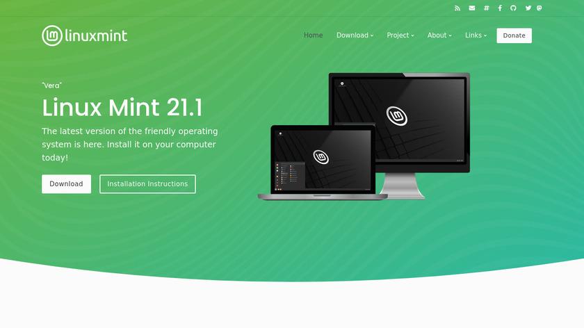 Linux Mint Landing Page