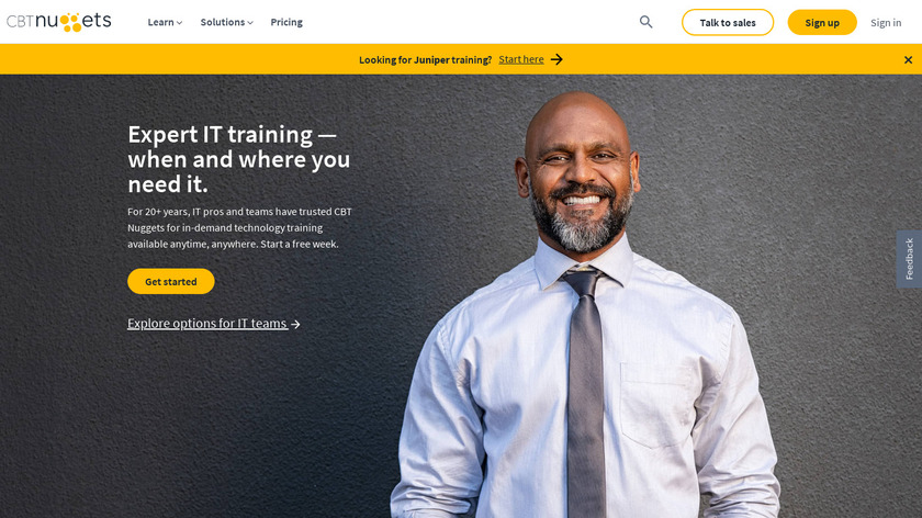 CBT Nuggets Landing Page