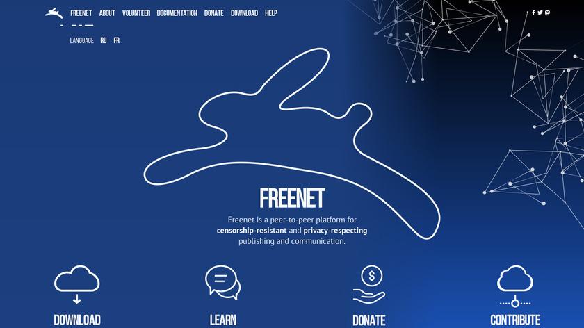 Freenet Landing Page