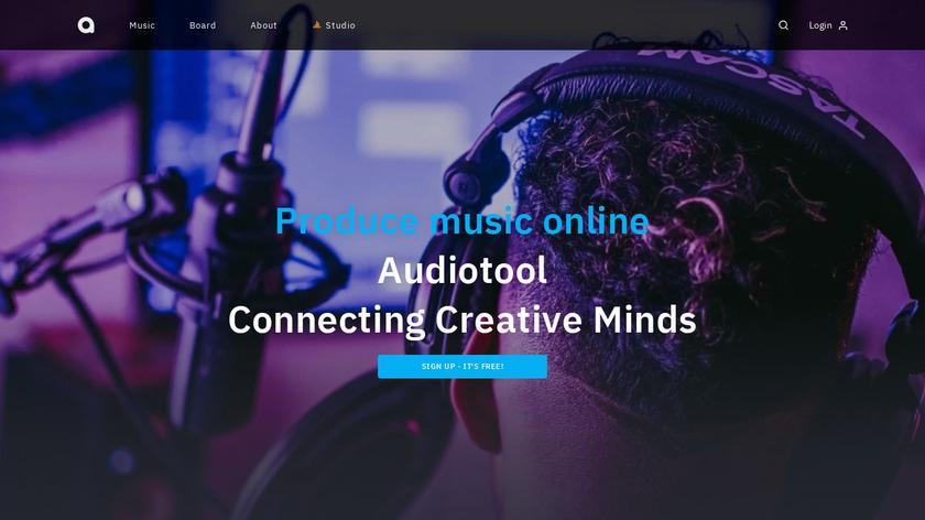 AudioTool Landing Page