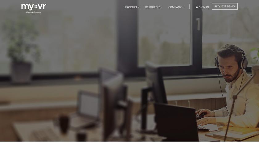 MyVR Landing Page