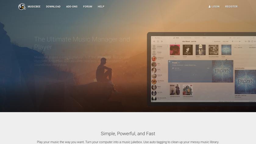 MusicBee Landing Page