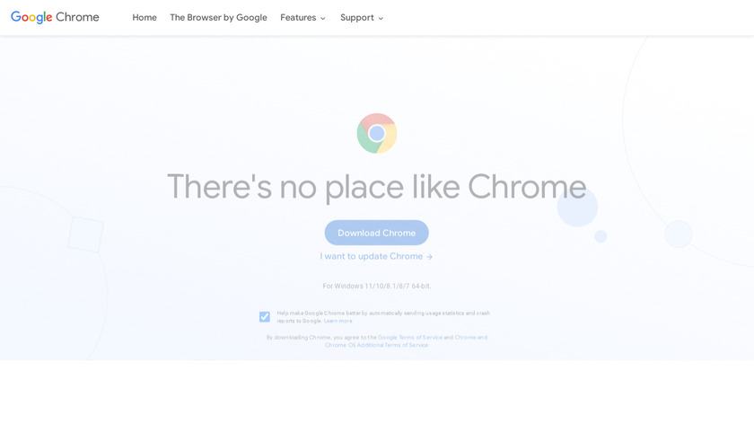 Google Chrome Landing Page