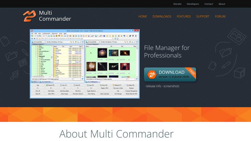 Multi Commander Landing Page