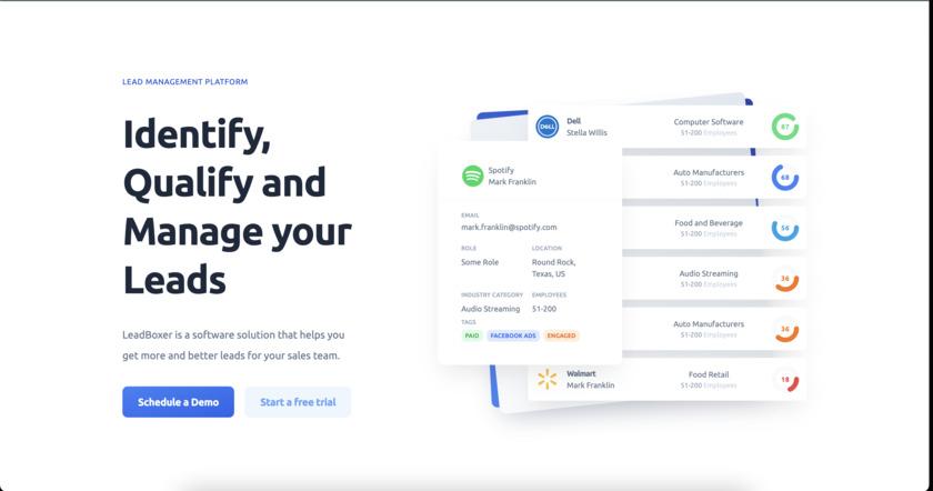 LeadBoxer Landing Page