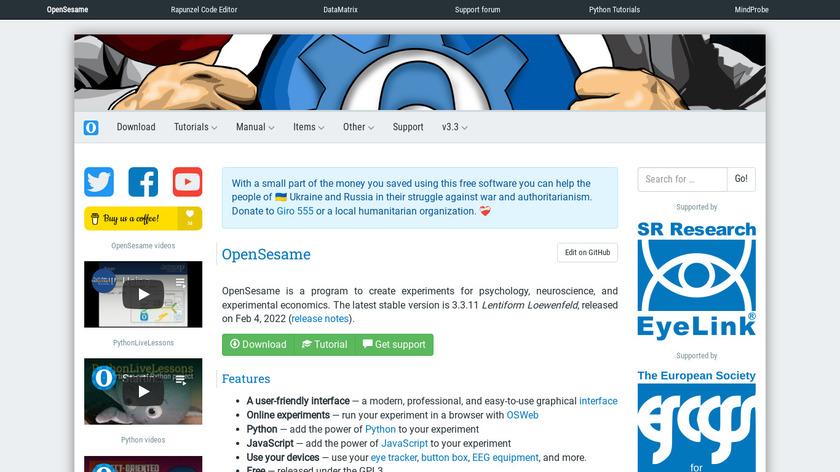 OpenSesame Landing Page