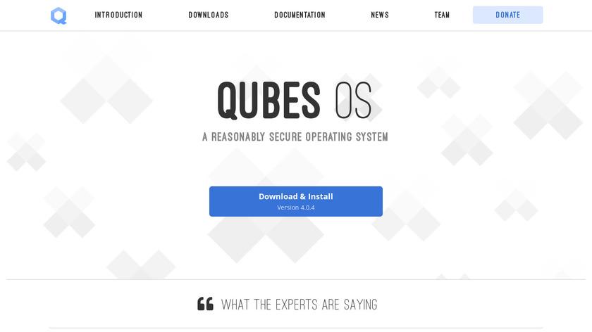 Qubes OS Landing Page