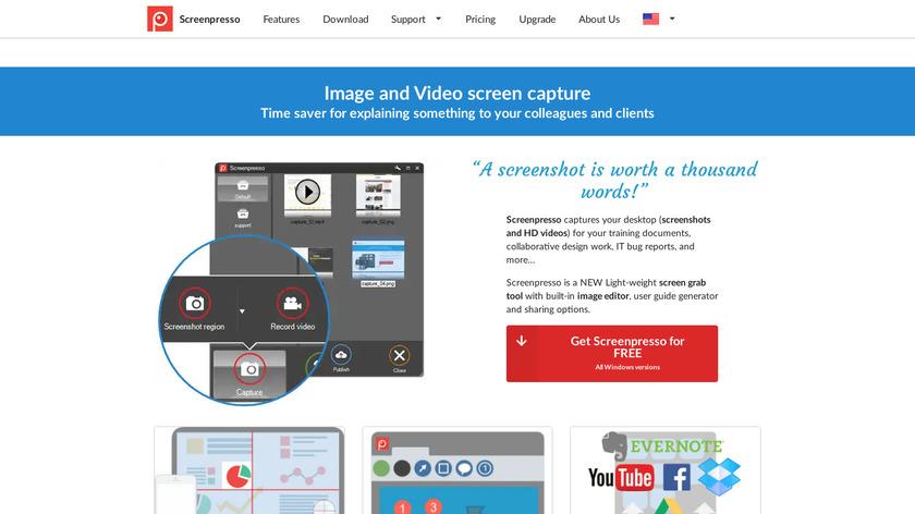 Screenpresso Landing Page