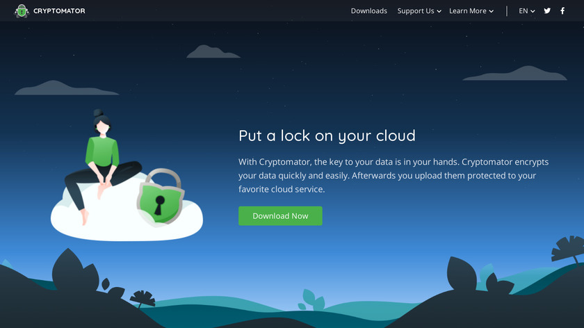 Cryptomator Landing Page