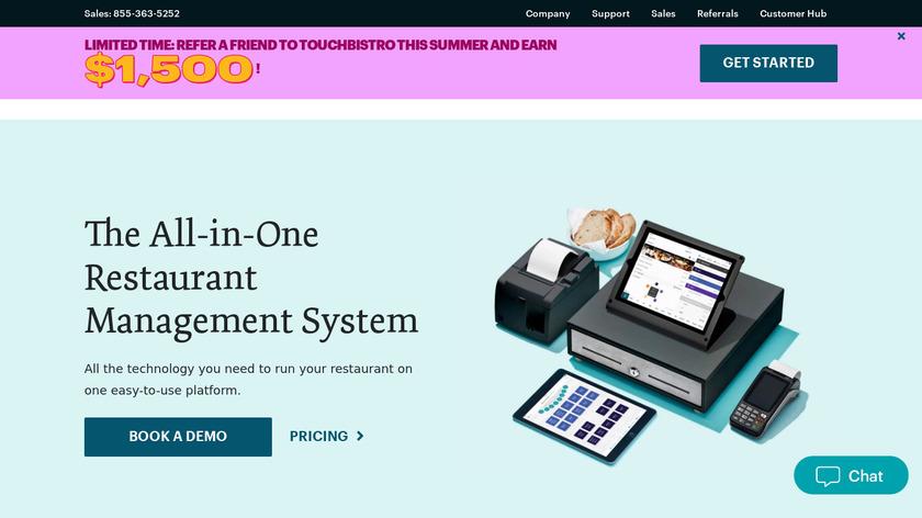 TouchBistro Landing Page