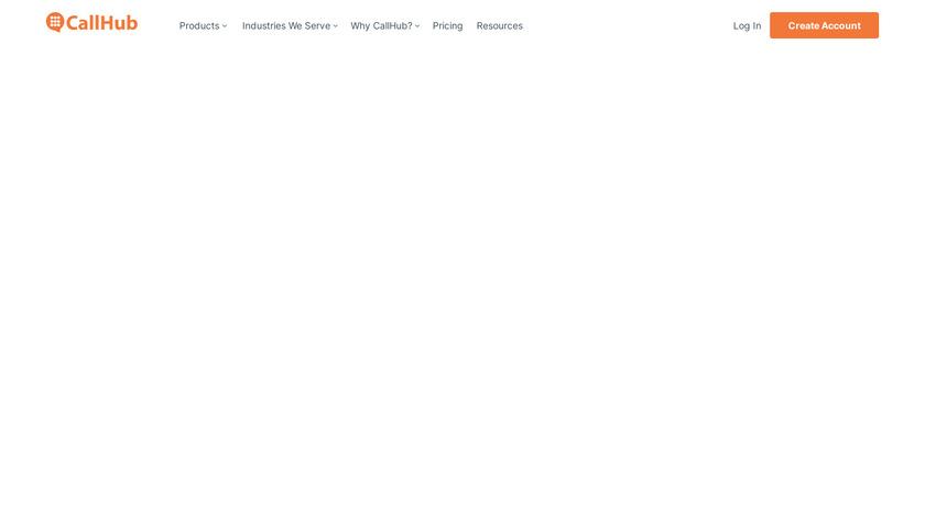 CallHub Landing Page