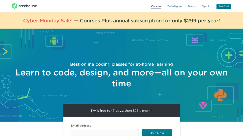 Treehouse Landing Page