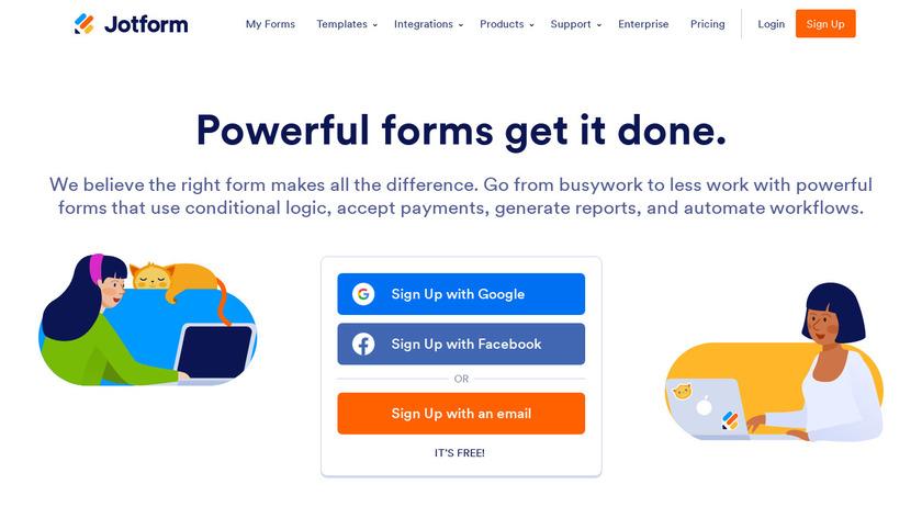 JotForm Landing Page