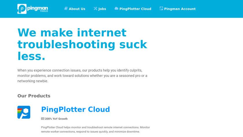 PingPlotter Landing Page