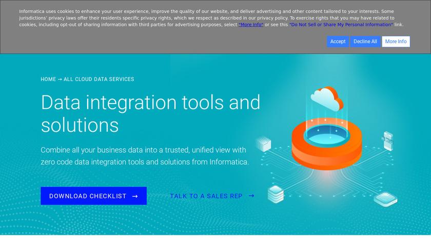 Informatica Enterprise Data Integration Landing Page