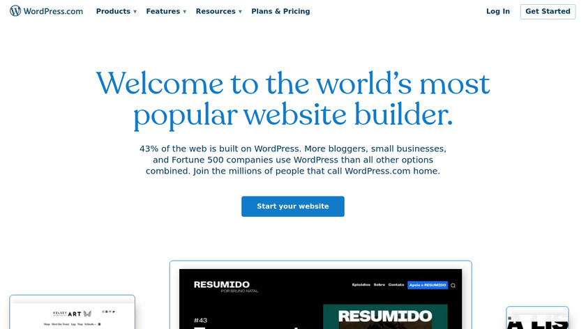 WordPress.com Landing Page