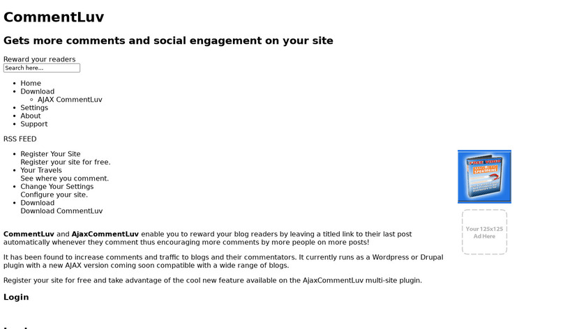 CommentLuv Landing Page