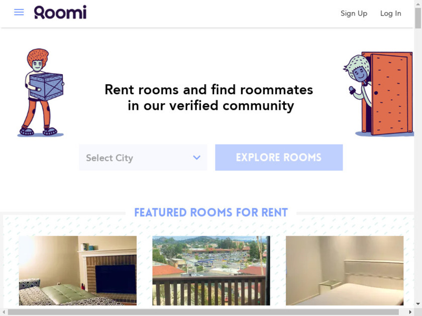 Roomi Landing Page