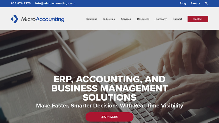 MicroAccounting Landing Page