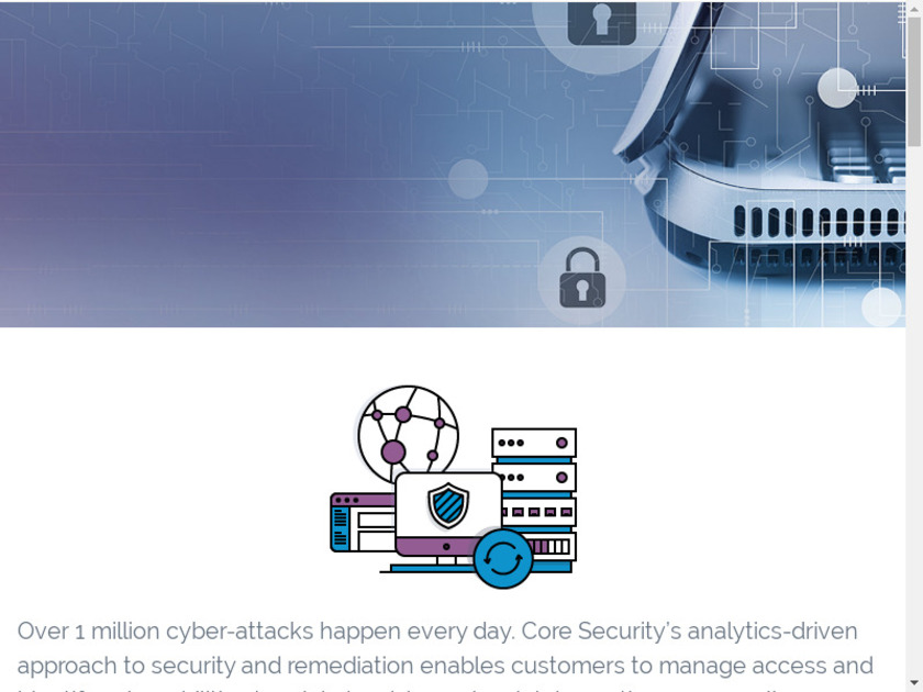 Core Security Landing Page