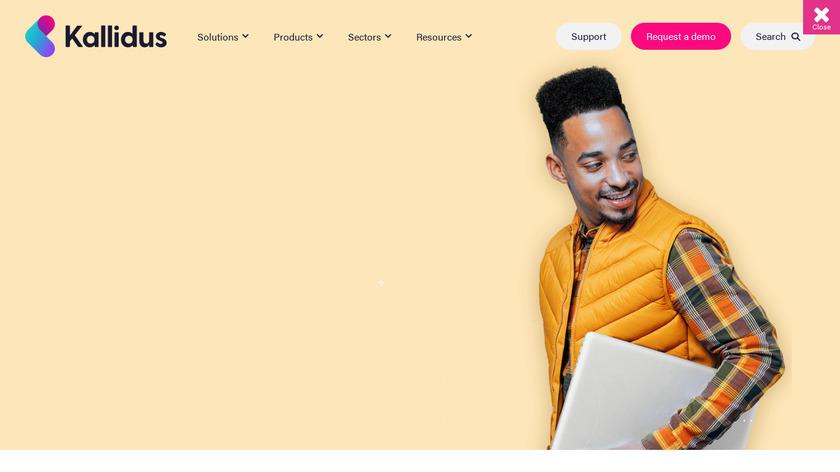 Kallidus Learn Landing Page