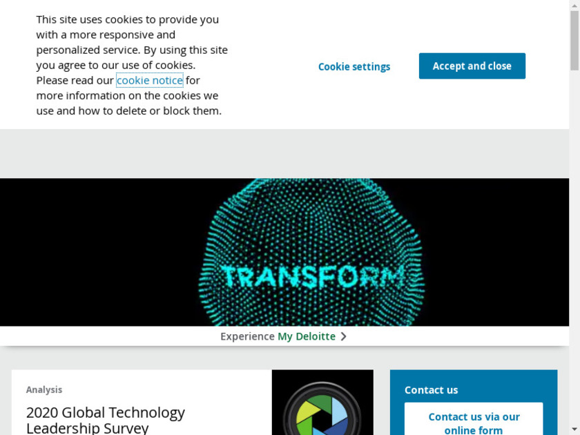 Deloitte Consulting Landing Page