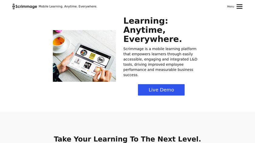 Scrimmage Landing Page