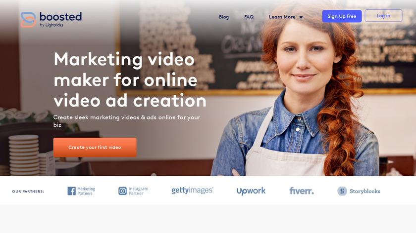 VideoBoost Landing Page