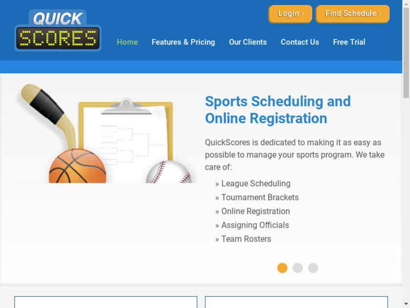 QuickScore Landing Page