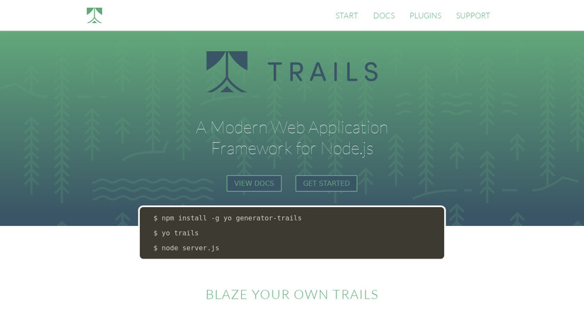Trails Landing Page