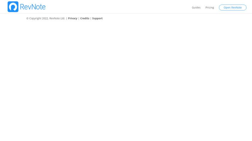 RevNote Landing Page