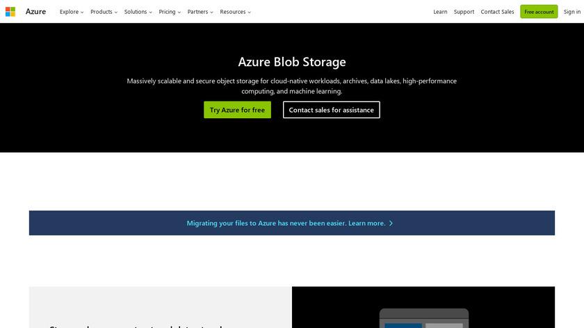 Azure Blob Storage Landing Page