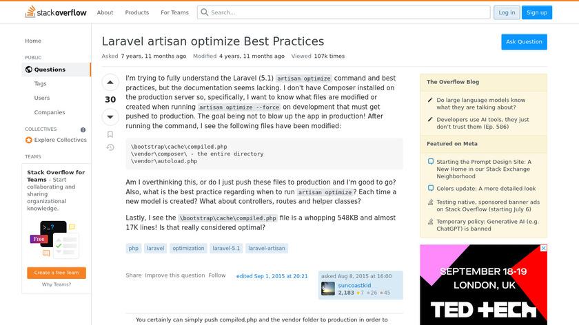 Artisan Optimize Landing Page