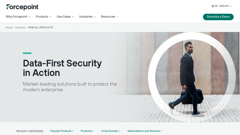 Forcepoint Web Security Suite Landing Page
